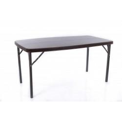 Rotangdisainiga kokkupandav laud 152x84 cm