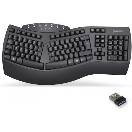 Ergonoomiline traadita klaviatuur numbriklaviatuuriga (ENG)