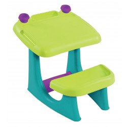 SIT and DRAW table, light green + turquoise