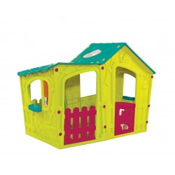 MAGIC VILLA playhouse, light green + turquoise