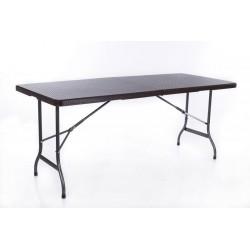 Rotangdisainiga kokkupandav laud 180x72 cm