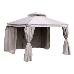 Gazebo LEGEND 3x3xH2 2,8m, aluminum frame, roof and side walls  polyester fabric, color  beige