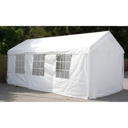 Party tent 3x6m, steel frame, cover  polyethylene, color  white
