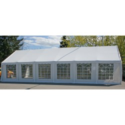 Party tent 6x12m, steel frame, cover  polyethylene, color  white
