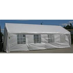 Party tent 4x8m, steel frame, cover  polyethylene, color  white