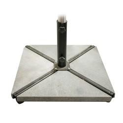Päikesevarjualuse kivid 4tk 47x47x66xH5cm hall, betoon