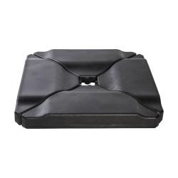 Päikesevarjualus 50x50x9,2cm must, plastik