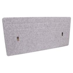 Desktop privacy panel 118x58cm, grey
