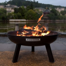Fire pit WARM SEEKER D55xH35cm, material  steel, color  black