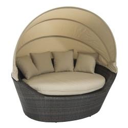 Sofa MINI MUSE with canopy 160x130xH70cm, dark brown