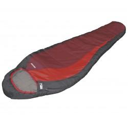 Sleepingbag Redwood, dark grey/burgundy/red