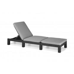 Sun lounger Daytona with cushion, graphite