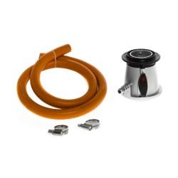 Gas regulator MUSTANG, 1,2m hose   Ø 10mm   30mbar