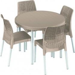Garden furniture set Jersey, cappuccino