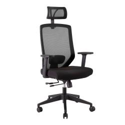 Task chair JOY  64x64xH115-125cm, seat  fabric, backrest  mesh fabric, color  black