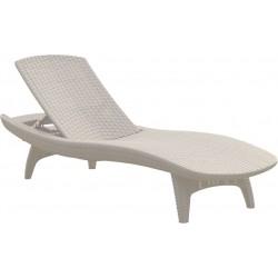 Sun lounger Pacific, white