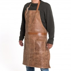 LEATHER APRON , TM Barbecook