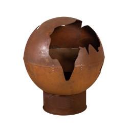 Fire pit WARM SEEKER D80xH95cm, material  cast iron, color  rusty