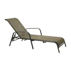 Deck chair DUBLIN 161x66,5xH48 100cm, seat and back rest  textiline, color  golden brown, steel frame, color  dark brown