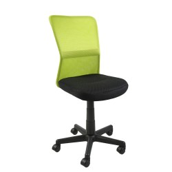 Task chair BELICE 41xD42xH83-93cm, seat  fabric, color  black, back rest  mesh, color  green