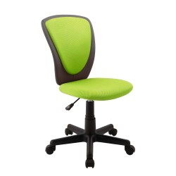 Task chair BIANCA 42x51xH82-94cm, seat and back rest  mesh fabric   imitation leather, color  green - dark grey