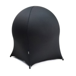 Ball chair JELLYFISH 55x55xH63cm, inflatable rubber ball on metal frame, cover  polyester   spandex, color  black