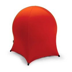 Ball chair JELLYFISH 55x55xH63cm, inflatable rubber ball on metal frame, cover  polyester   spandex, color  red