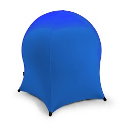 Ball chair JELLYFISH 55x55xH63cm, inflatable rubber ball on metal frame, cover  polyester   spandex, color  blue