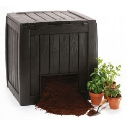 Composter Deco 340L, with base, brown