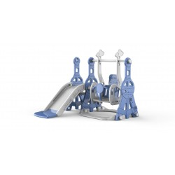 Kids slide with swing and ball frame