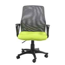Task chair TREVISO 59xD58xH90-102cm, seat  fabric, color  green, back rest  mesh, color  grey
