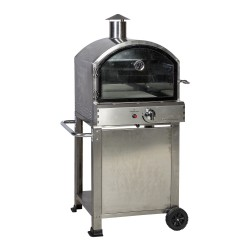 Pizza owen CARLO 80x68x143cm, gas fired, stainless steel housing, 4,68kW