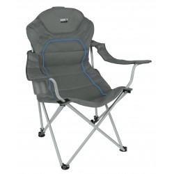Camp chair Alicante, folding, darkgrey blue