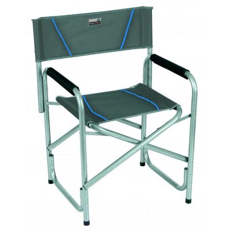 Camp chair Cadiz, folding, dark grey blue