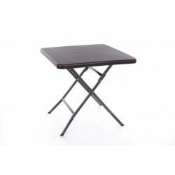 Rotangdisainiga kokkupandav kandiline laud 78x78x74 cm